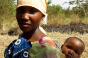 Tanzanian woman with child